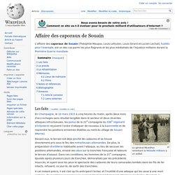 Affaire des caporaux de Souain