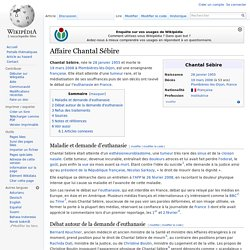 Affaire Chantal Sébire