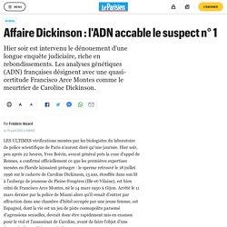Affaire Dickinson : l'ADN accable le suspect n° 1