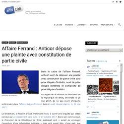 Affaire Ferrand : Anticor dépose une plainte avec constitution de partie civile
