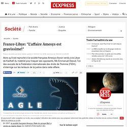 """France-Libye: """"L'affaire Amesys est gravissime!"""""""