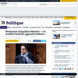 Affaire Morelle : « Le conflit d'intérêt apparaît évident »