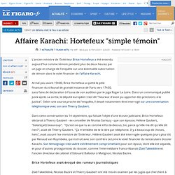 Karachi: Hortefeux ''simple témoin''