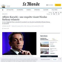 Affaire Karachi: une enquête visant Nicolas Sarkozy relancée