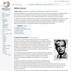1950 EGYPTE Affaire Lavon