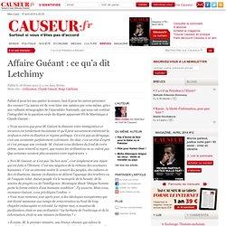 Affaire Guéant : ce qu'a dit Letchimy