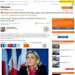 Affaire Copé : Marine Le Pen est culottée de donner des leçons de morale