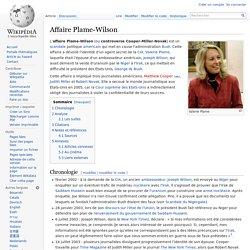 Affaire Plame-Wilson