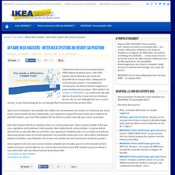 Affaire IKEA Hackers : Inter IKEA Systems BV revoit sa position
