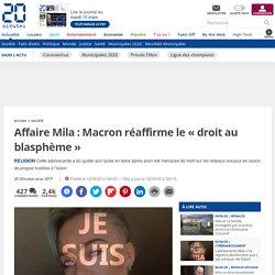 Affaire Mila: Macron réaffirme le «droit au blasphème»