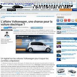 L'affaire VW, Chance Pour La Voiture électrique ?