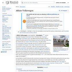 Un membre de la communauté publie à la place de la marque sur Wikipédia (Affaire Volkswagen)
