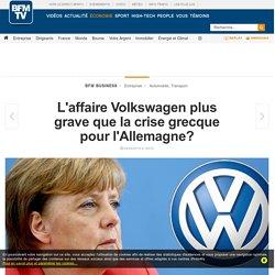 L'affaire Volkswagen plus grave que la crise grecque pour l'Allemagne?