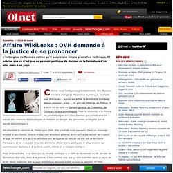 Affaire Wikileaks : OVH demande à la justice de se prononcer
