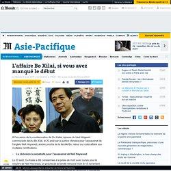 L'affaire Bo Xilai, si vous avez manqué le début
