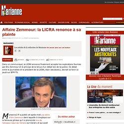 Affaire Zemmour: la LICRA renonce à sa plainte