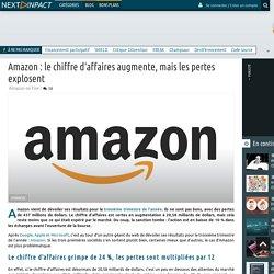 Amazon : le chiffre d'affaires augmente, mais les pertes explosent