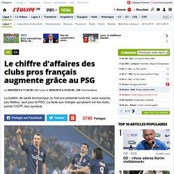Éco - Le chiffre d'affaires des clubs pros français augmente grâce au PSG