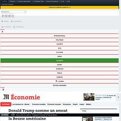 Donald Trump nomme un avocat d'affaires à la tête du gendarme de la Bourse américaine