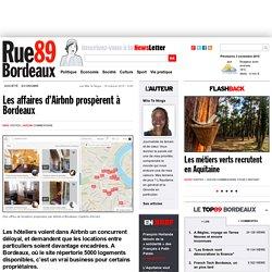 Les affaires d'Airbnb prospèrent à Bordeaux