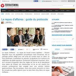 Le repas d'affaires : guide du protocole