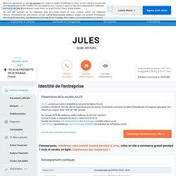 JULES (ROUBAIX) Chiffre d'affaires, résultat, bilans sur SOCIETE.COM - 305154262