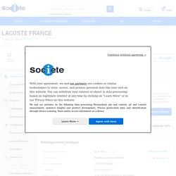 LACOSTE FRANCE (PARIS 16) Chiffre d'affaires, résultat, bilans sur SOCIETE.COM - 307258301