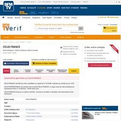 Société CELIO FRANCE à SAINT OUEN (Chiffre d'affaires, bilans, résultat) avec Verif.com - Siren 313334856