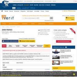 Fiche entreprise ZARA FRANCE - 348991555 - Retrouvez la fiche de l'entreprise ZARA FRANCE