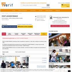 Société FOOT LOCKER FRANCE à PUTEAUX (Chiffre d'affaires, bilans, résultat) avec Verif.com - Siren 382401867