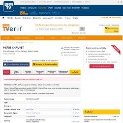 Société PIERRE CHAUVET à AUBENAS (Chiffre d'affaires, bilans, résultat) avec Verif.com - Siren 392170486