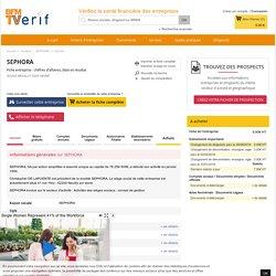 Société SEPHORA à NEUILLY SUR SEINE (Chiffre d'affaires, bilans, résultat) avec Verif.com - Siren 393712286