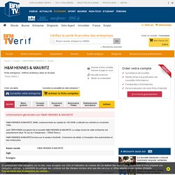Société H&M HENNES & MAURITZ à PARIS 2 (Chiffre d'affaires, bilans, résultat) avec Verif.com - Siren 398979310