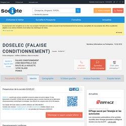 DOSELEC (FALAISE) Chiffre d'affaires, résultat, bilans sur SOCIETE.COM - 410202147