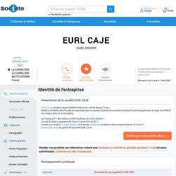 EURL CAJE (VIVONNE) Chiffre d'affaires, résultat, bilans sur SOCIETE.COM - 438943805