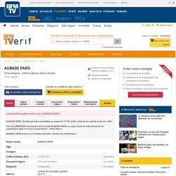 Société AUBADE PARIS à PARIS 1 (Chiffre d'affaires, bilans, résultat) avec Verif.com - Siren 775695901