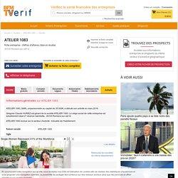 Société ATELIER 1083 à Romans-sur-Isère (Chiffre d'affaires, bilans, résultat) avec Verif.com - Siren 819225723