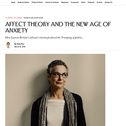 Affect Theory and the New Age of Anxiety