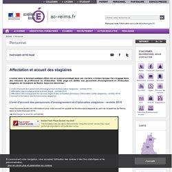 Académie de Reims - Affectation et accueil des stagiaires
