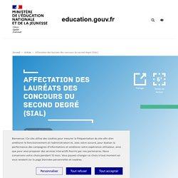 Affectation des lauréats des concours du second degré (SIAL)