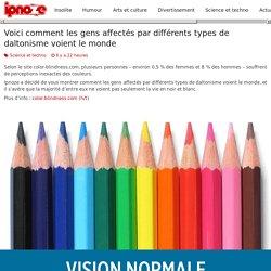 Voici comment les gens affectés par différents types de daltonisme voient le monde