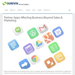 Partner Apps Affecting Business Beyond Sales & Marketing