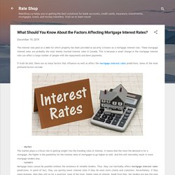What Should You Know About the Factors Affecting Mortgage Interest Rates?