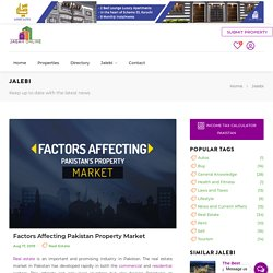 Factors Affecting Pakistan Property Market
