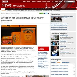 Affection for Britain brews in Germany