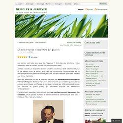 Le mystère de la vieaffectivedesplantes « Bricoler & jardiner