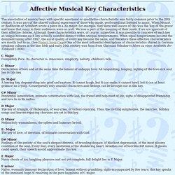 AFFECTIVE KEY CHARACTERISTICS