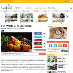 Diet Affects Gene Expression