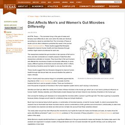 Diet Affects Men's and Women's Gut Microbes Differently