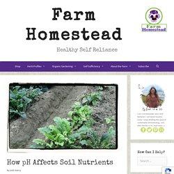 How pH Affects Soil Nutrients - Farm Homestead